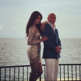 "Pitbull and Priyanka Chopra on the set of ""Exotic"""