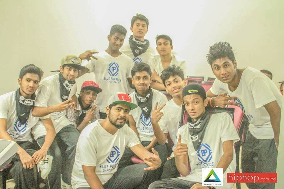 The blue poppers bd gonna participate and represent bangladesh on world hiphop dance championship 2016.